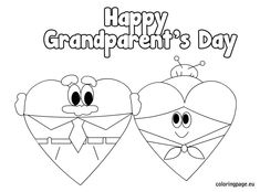 Happy Grandparents Day Coloring Page - Twisty Noodle | School ideas ...