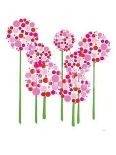 i think i could figure out how to paint this on pottery or canvas. i think i could figure out how to paint this on pottery or canvas. Dot Painting, Ceramic Painting, Painting With Dots, Simple Flower Painting, Flower Art, Finger Painting, Art Flowers, Pretty Flowers, Ceramic Art