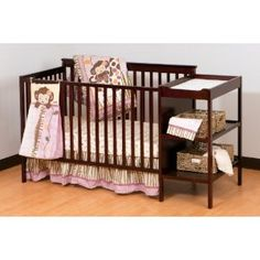 Stork Craft Milan 2-in-1 Fixed Side Convertible Crib and Changer