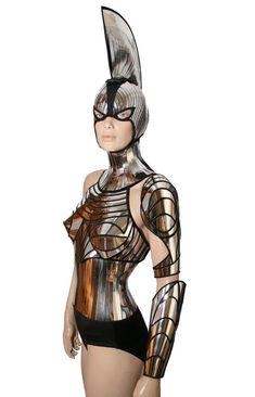 2 piezas cyborg ciber robot brazo futurista armadura por divamp