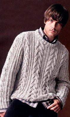 MADE TO ORDER crewneck Sweater turtleneck men hand knitted sweater cardigan pullover men clothing handmade men's knitting aran cabled Sweater Knitting Patterns, Knitting Designs, Baby Knitting, Cable Sweater, Men Sweater, Crewneck Sweater, Sweater Cardigan, Stylish Men, Pulls