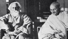RabindranathTagore and his friend, Ghandi