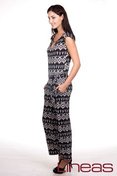 Jumpsuite, Modelo 19183. Precio $280 MXN #Lineas #outfit #moda #tendencias #2014 #ropa #prendas #estilo #primavera #outfit #jumpsuite