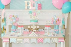 clean-colorful-girl-party-design - Home Decorating Trends - Homedit Birthday Party Desserts, Birthday Fun, Birthday Decorations, Birthday Parties, Birthday Celebration, Teenager Party, Baby Gender Reveal Party, How Many Kids, Spa Party