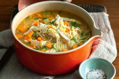 We've rounded up the soup recipes that the taste team rate the quickest, easiest and most delicious. With everything from the ultimate chicken noodle broth to our editor's favourite pumpkin soup, we've got you covered this winter! Ultimate Chicken Noodle Soup Recipe, Chicken Soup Recipes, Cookbook Recipes, Cooking Recipes, Healthy Recipes, Yummy Recipes, Meal Recipes, Cooking Tips, Vegetarian Recipes