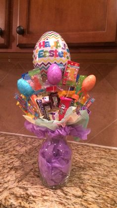 Diy easter basket with tulle and flowers kids pinterest candy bouquets easter easter gifts gifts for by leighboutiquechic negle Gallery