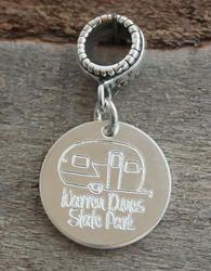 Trailer Camper Personalized Engraved Charm Bead - Pandora Compatible