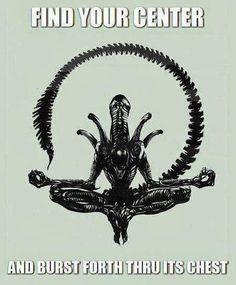 Giger's Alien in lotus position how Zen Les Aliens, Aliens Movie, Lotus Position, Lotus Pose, Art Alien, Alien Artist, Giger Alien, Predator Alien, Art Graphique