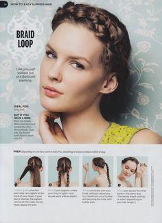 hair how tos | Fun Hair How-Tos / Braid Loop Hair Tutorial
