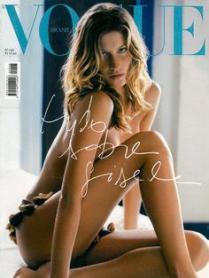 Gisele Bundchen by Bob Wolfenson Vogue Brazil February 2003