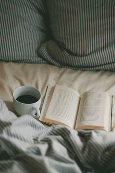 Coffee, bed, and a good book