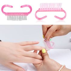 5pcs/lot horns brush clean dust nail tool Art Care Manicure Pedicure Soft Remove Small Angle Cleaner nails brush #M02167