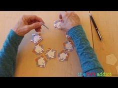 Marking the Paper Pieces For The La Passacaglia Quilt - YouTube