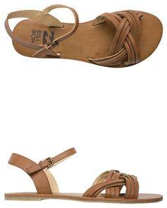 BILLABONG WATERFALL HIKES VEGAN LEATHER SANDAL. http://www.swell.com/womens-footwear-new-arrivals