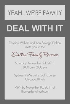 22 Best Family Reunion Invitations Images Family Reunion