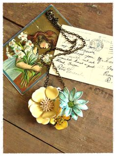 the east of the sun necklace. repurposed vintage jewelry by bee vintage redux.