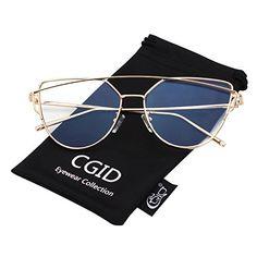 CGID Espejo de moda Polarizadas ojo de gato Gafas de sol para mujer UV400 MJ74 Cat Eye Sunglasses, Eyewear, Collection, Fashion, Cat Eyes, Mirror, Sunglasses, Lenses, Women