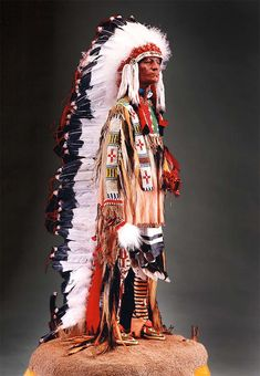 Full length portrait of Sioux Chief