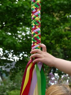 Having a maypole with circus colors could be a fun thing to do in pre-school classrooms!