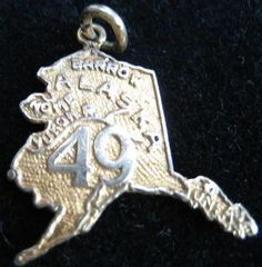 Vintage 10K State of Alaska Charm found on Ruby Lane