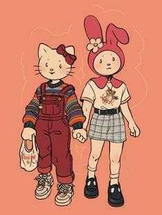 n e r v e /\ s p i k e — luxjii: Sanrio Squad, Hello Kitty Fashion Character Design, Character Art, Hippie Art, Cute Art, Cartoon Art Styles, Art, Cute Drawings, Pretty Art, Cute Art Styles