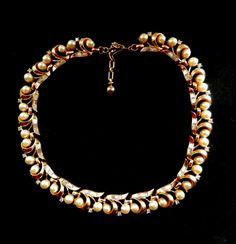 Terrific vintage costume jewelry Trifari  pearls & by RAKcreations