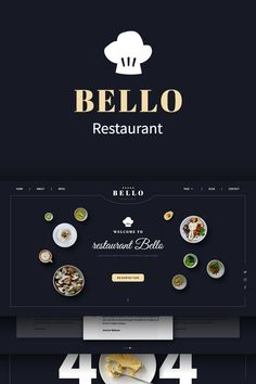 Template Bello - made specially for restaurants but you can use it for other purposes if you want. It contains everything that you need as web site for Photoshop Tips, Photoshop Design, Template Site, Psd Templates, Consulting Logo, New Theme, Design Tutorials, Designs To Draw, Typography Design