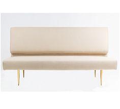 "Cleveland-B | Organic Modernism. $1695. Aspirationally priced, gold legs. 65"" long. Better than most of this verkakte nonsense."