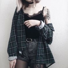 ways to look stylish wearing grunge outfits 33 15 Ways to Look Stylish Wearing Grunge Outfits Grunge Outfits, Tumblr Outfits, Edgy Outfits, Mode Outfits, Grunge Clothes, Punk Clothes, Diy Clothes, Stylish Clothes, Korean Outfits