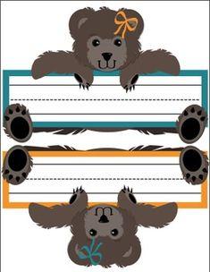FREE Teddy Bear Nameplates by Printables in Pajamas Classroom Lables, Classroom Charts, Classroom Themes, Classroom Resources, Bear Theme Preschool, Kindergarten Classroom, Preschool Ideas, Teaching Ideas, Teddy Bear Names