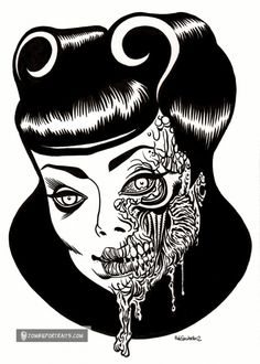 roller-zombie pin up girl