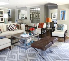 layout-layered coffee tables + ottomans, via knight moves