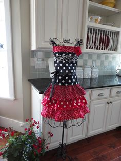 "Oh Happy Day ~  ""Sophia Style"" Ruffled Womens Apron - Red Ruffles - 4RetroSisters by 4RetroSisters on Etsy https://www.etsy.com/listing/97187922/oh-happy-day-sophia-style-ruffled-womens"