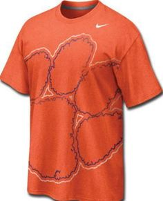 e5b81fa0 Clemson Tigers Orange Nike Big Time Paw Clemson Football, Clemson Tigers,  College Shirts,