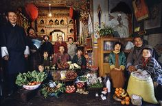 What_The_World_Eats_BhutanEven without the text, the family portraits are eye opening. It seems the people living in poverty eat more nutrient dense whole foods than the people who could easily afford fresh produce. The first world families have more processed foods and soda and less fruits and vegetables than all of the others. It's an interesting correlation that people in more developed countries also have more diseases of affluence, such as cancer, diabetes, depression, and heart disease.