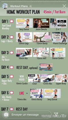 Weekly Workout Plans, At Home Workout Plan, Workout Schedule, Intense Workout Plan, Fun Workouts, At Home Workouts, Workout Challange, 45 Minute Workout, Intensives Training