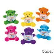 """Plush Bears with A """"Walking with Jesus"""" T-Shirt"""