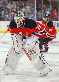 CrowdCam Hot Shot  New Jersey Devils goalie Cory Schneider during pre-game  warmups at 6f54b085c