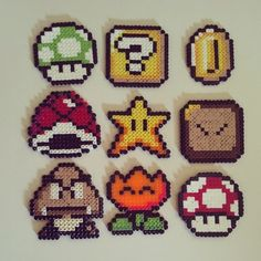Super Mario perler beads by davidicon