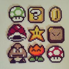 Super Mario perler beads by davidicon