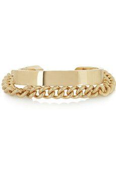 Maison Martin Margiela Chain-embellished gold-tone cuff | NET-A-PORTER