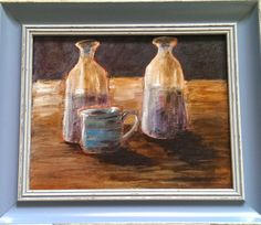 oils on canvas... I'm still learning  need to master all those bottles and cups to move on :)