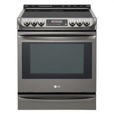 Shop LG Appliances LG cubic ft Smooth Surface Black Stainless Steel Convection Electric Range at Lowe's Canada. Slide In Range, Renovation Hardware, Thing 1, Glass Cooktop, Sparkling Clean, Roasted Meat, Oven Cleaning, Oven Racks, Black Stainless Steel