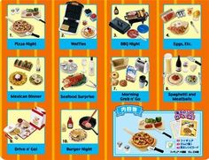 RARE re ment Miniature Fun Meal Full 10 Set | eBay