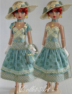 """2013 Tonner Wilde Imagination Ellowyne Prudence Amber Lizette Imperium Park OOAK Fashion """"Sunshine on a Cloudy Day"""" Collet-Art 