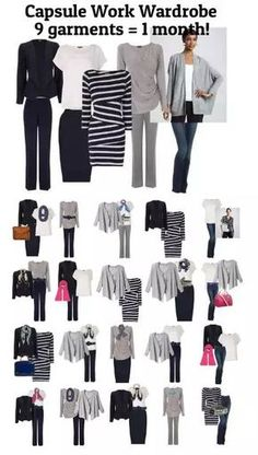 Capsule work wardrobe - 9 items 28 days