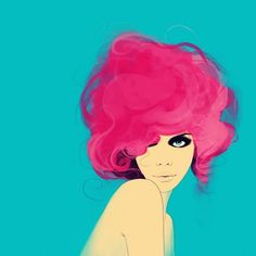 cotton candy pink hair.