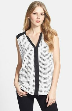 Vince Camuto 'Fresco Dot' Blouse available at #Nordstrom