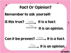 This review presentation is great for helping your students identify facts and opinions.This is meant as a quick review, or to be used in combination with something like my Fact or Opinion Printables.