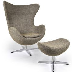 Orren Ellis Deniela Swivel Balloon Chair and Ottoman Upholstery Color: Oatmeal Chair And Ottoman, Wingback Chair, Armchair, Cool Bean Bags, Land Of The Living, Parsons Chairs, Barrel Chair, Take A Seat, Egg Chair